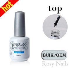 New Arrive Top Coat Top it off / Base gel Foundation Kit for UV Gel Nail Polish 15ml gel nail base