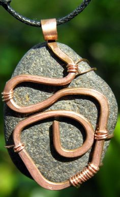 upcycled recycled jewelry hand hammered copper by LaraOwensArt, $22.00 - rock
