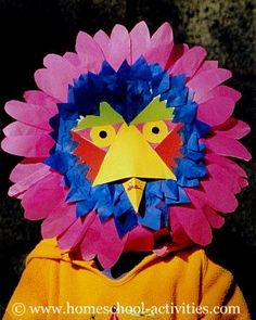 Recycled #kids #crafts making bird masks with paper plates.