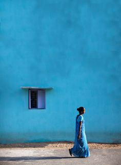turquoise wall