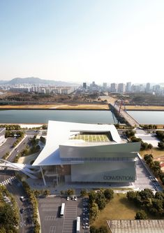 Daejeon Convention Center – NORTHPOINT Library Architecture, Museum Architecture, Landscape Architecture, Architecture Design, Home Theater Design, Library Design, Arch Building, Building Design, Architect Drawing