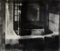Simon Adjiashvili Untitled 2013, charcoal on paper, 60 x 50 cm