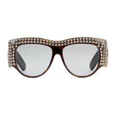 aed179cdb Gucci Rectangular-frame acetate sunglasses with pearls. Gafas De SolBolsas Gafas ...