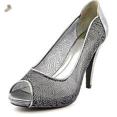 Style & Co Women's Naveah Peep Toe Canvas Heels, Grey, Size 11.0 - Style co pumps for women (*Amazon Partner-Link)