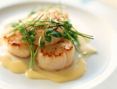Basic Beurre Blanc Sauce—Perfect for Fish and Seafood: Seared scallops with beurre blanc sauce
