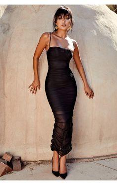 57e7f4b6510c Clothing   Max Dresses    Fornarina  Black Organza Mesh Maxi Dress Max  Dresses