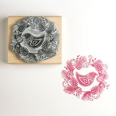 Handmade Christmas Rubber Stamp by Noolibird Rubber Stamps, the perfect gift for Explore more unique gifts in our curated marketplace. Christmas Bird, Handmade Christmas, Christmas Wreaths, Christmas Ideas, Holiday Ideas, Christmas Crafts, Make Your Own Card, Handmade Stamps, Snowflake Pattern