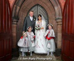 Bride, Groom & Flower Girls St Nicholas Church, Saint Nicholas, Flower Girls, Bride Groom, December, Wedding Dresses, Photography, Fashion, Bride Dresses