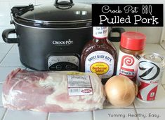 Crock pot pulled pork. I use 1 can of beer in mine instead of the soda. I also add 1/2 cup brown sugar. It is really easy and very tasty!