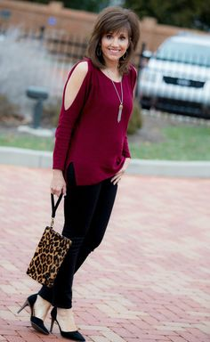 Burgundy for the holiday season - Fashion for women over 40