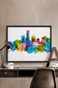 Milwaukee print Milwaukee skyline Milwaukee by iPrintPoster