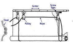 This helped me re-string the ropes on our matchsticks Exterior Curtains - Rope and Pulleys
