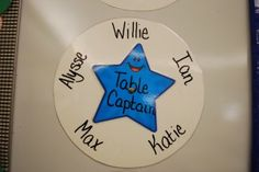Great Idea for table groups and handing out supplies!