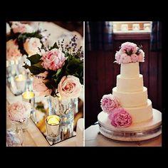 #cake & table #decor from a recent #wedding by premierweddingplannersscotland