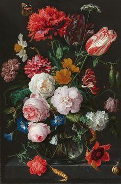 ixxi image bank rijksmuseum art still life with flowers in a glass vase jan davidsz. de heem