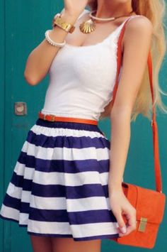 cute sleeveless striped dress