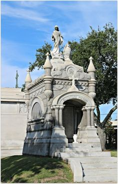 Pizzati Tomb at Metairie Lawn, New Orleans Cemetery. Crypts of this size and larger truly shouldn't be visited by no more than the family due to their overprotection, and should their Spirits ever once be invoked... whomever does so within that cemetery or graveyard shall never live to tell it!!!.