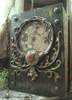 Altered Alchemy Gallery: Handmade Journals -Flower in the Attic Blank Journal, My Journal, Journal Covers, Book Covers, Handmade Journals, Handmade Books, Handmade Notebook, Altered Boxes, Altered Art