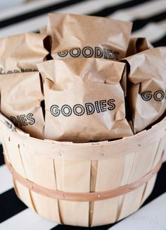 Custom printed paper bags ...great idea for holiday treats and party favors! Printable with LogoJET printers.