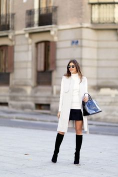 Trendy Taste     Grey white and black outfit