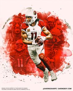 Daring Boy Interactive is the sports art and design studio of Matt Sharpe, proudly based in beautiful Guelph, Canada. Nfl Football Players, Football Art, Football Helmets, Football Uniforms, Arizona Cardinals Wallpaper, Sports Graphic Design, Sport Design, Arizona Cardinals Football, Larry Fitzgerald