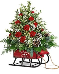 Christmas Flowers Delivery Louisa KY - Farmhouse Memories Christmas Flower Arrangements, Christmas Flowers, Mini Christmas Tree, Christmas Plates, Floral Arrangements, Merry Christmas, Flowers Today, Flowers For You, Types Of Flowers