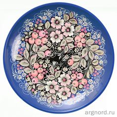 Тарелка большая высокохудожественная роспись | Артикул: 20-СНХП-221/вх | Роспись по дереву