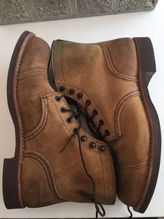 RED WING 4581 IRON RANGER HAWTHORNE ROUGH-OUT MULESKINNER BOOTS SIZE 8.5 D #RedWing #WorkSafety