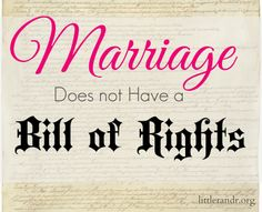 Marriage doesn't have a bill of rights