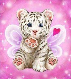 Buy Diamond embroidery Tiger DIY Diamond Painting Cross Stitch Resin Square Full Needlework inlay Pattern Wall Sticker Decor at Wish - Shopping Made Fun Kittens Cutest, Cute Cats, Animal Pictures, Cute Pictures, Cartoon Tiger, Tiger Crafts, Cute Tigers, Tiger Art, Cute Animal Drawings