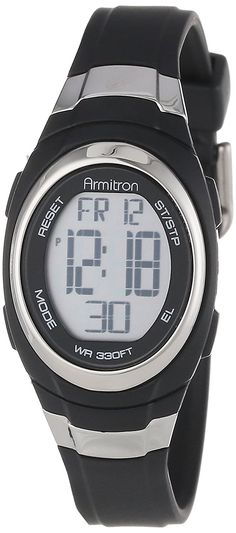 Armitron Sport Unisex 45/7034BLK Stainless Steel Accented Black Resin Strap Chronograph Digital Watch * See this great product. (This is an Amazon Affiliate link and I receive a commission for the sales)