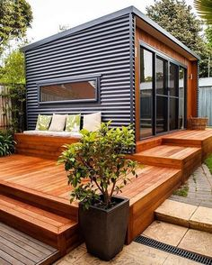 Looking for artsy and stylish home ideas? Shipping container homes are a new style statement for people who want more than just … Tyni House, House Roof, Sustainable Architecture, Contemporary Architecture, Best Small House Designs, Small Luxury Homes, Shed To Tiny House, Casas Containers, Underground Homes