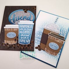 Coffee Cafe bundle : June ColourINKspiration #11 - Guest Designer. Juana Create.