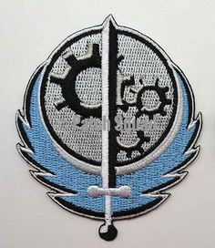 "Fallout Style Brotherhood of Steel BOS Patch Embroidered 3.5"" tall x 3"" wide"