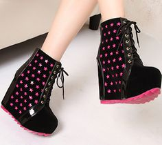 2013 HARAJUKU shoes blended color elevator wedge boots ultra high heels martin boots-inBoots from Shoes on Aliexpress.com