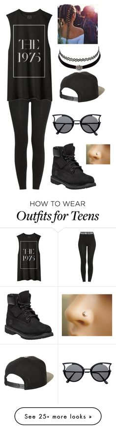 """""""Untitled #317"""" by onnajanell on Polyvore featuring Calvin Klein, Charlotte Russe, Timberland and Brixton"""