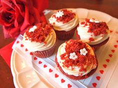 Super-moist Red Velvet Cupcakes Recipe | Just A Pinch Recipes