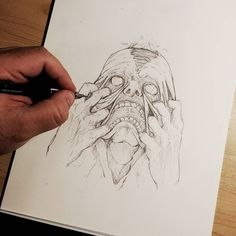 This is how it feels to have anxiety... #Art #Horror #Anxiety #Face #Hands #Artist #MentalHealth #Depression #Pencil #PencilDrawing #Sketch #Sketching #SketchBook #Disturbing #Scary #Skin #InstaDraw #InstaArtist #InstaArt #ArtistsOfInstagram