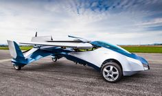 the aeromobil collapsable flying car takes to the sky | this would make visiting the family so much easier... ;D