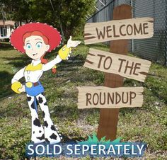 Toy Story Birthday Welcome To The Roundup Standing by CSCuteCrafts, $20.00