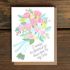 Beautiful Bridesmaid and Maid of Honor Cards - Paper Luxe