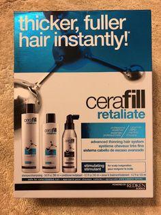 Redken Cerafill Retaliate For Advanced Thinning Hair Set Kit NIB Free S&H #Redken