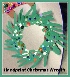 Handprint Christmas Tree Craft for Kids! #crafts #craft #kids