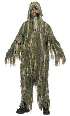 Boy's Jungle Camo Suit Costume - Ghillie Suit Child Costume Army snipers under deep cover are expert in camouflage! Costume includes: Jungle foliage jumpsuit and hood . Costume Garçon, Army Costume, Military Costumes, Boy Costumes, Halloween Costumes For Kids, Costume Ideas, Awesome Costumes, Trendy Halloween, Scary Costumes