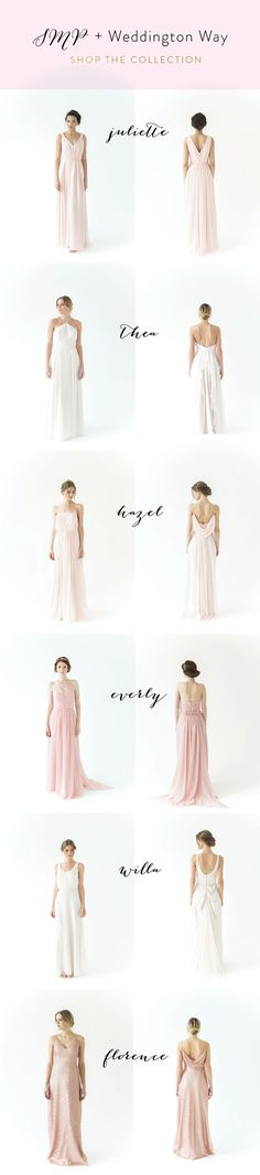 SMP + Weddington Way collection! Collection available now! http://www.stylemepretty.com/2017/02/10/style-me-pretty-weddington-way-bridesmaids-dresses/