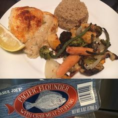 Tried something new for dinner tonight: #traderjoes Pacific Flounder with Crabmeat Stuffing (7sp). Mixed reviews here. My mom really liked it I was on the fence. I ate it but was unsure the whole time. I squeezed on some fresh lemon juice and had it with 1/2c quinoa (3sp) and roasted veggies. I'm not 100% sold on buying it again but it was a quick freezer meal to put together. #dinner #ww #weightwatchers #smartpoints #beyondthescale #wwpointsplus #pointsplus #wwmeals #wwfooddiary…