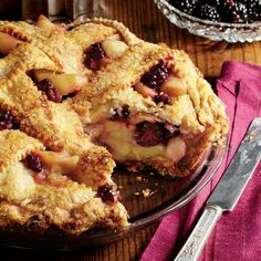 Blackberry-Apple Pie - Splurge-Worthy Thanksgiving Dessert Recipes - Southern Living