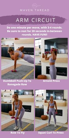 Workout Circuit At Home, Arm Workouts At Home, Fun Workouts, Flabby Arm Workouts, Arms And Back Workout At Home, Bodyweight Arm Workout, At Home Total Body Workout, Back Of Arm Exercises, Ab And Arm Workout