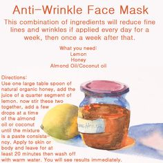 Do It Yourself – DIYideas Magazine: Anti-Wrinkle Face Mask