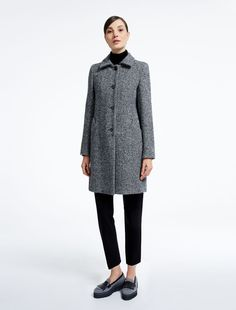 Weekend Max Mara ALBANY black: Wool tweed coat Product page